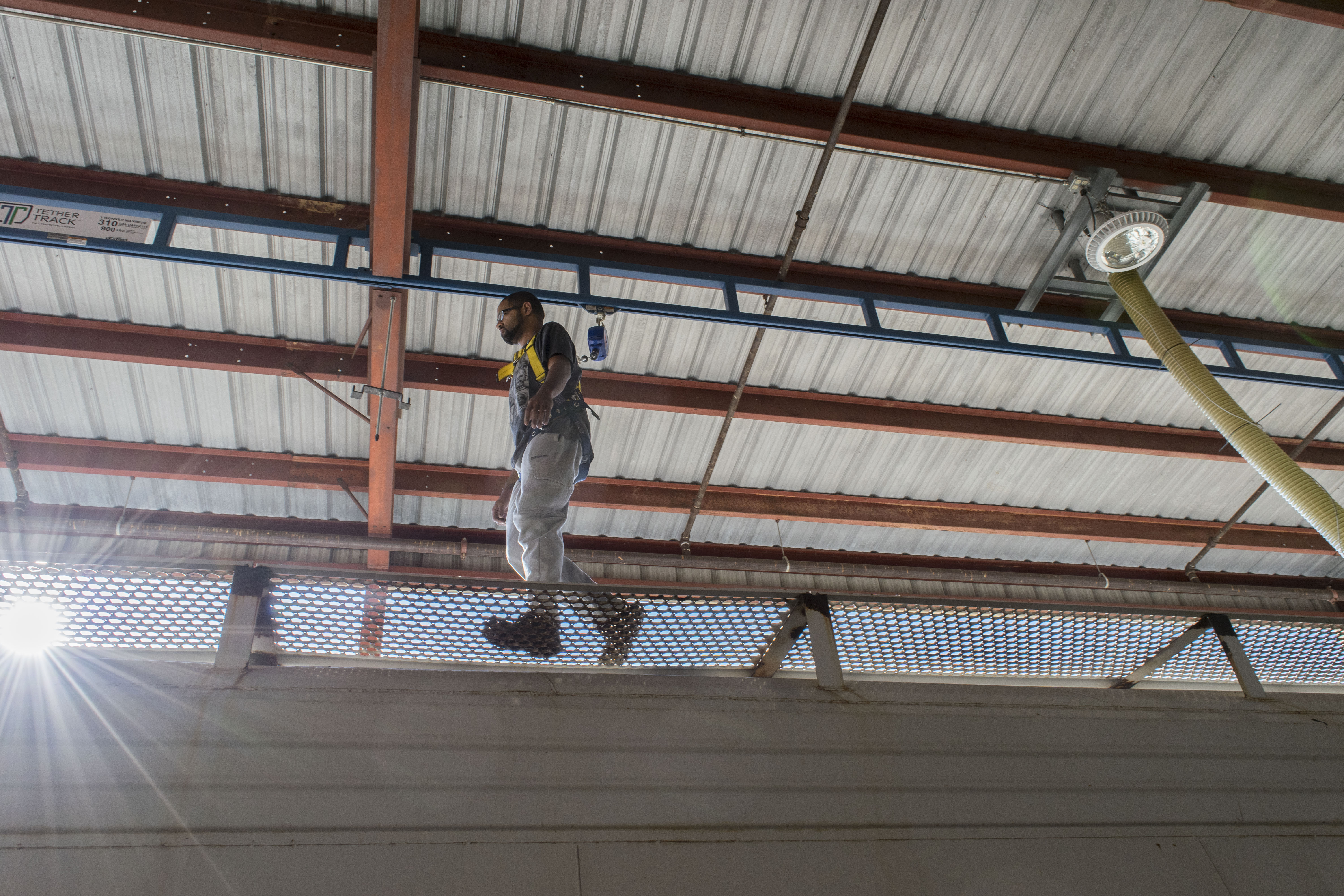 Upgrade overhead fall protection equipment